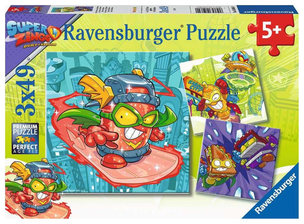 Puzzle Ravensburger Superzings Rivals of Kaboom de 3x49 Pzs