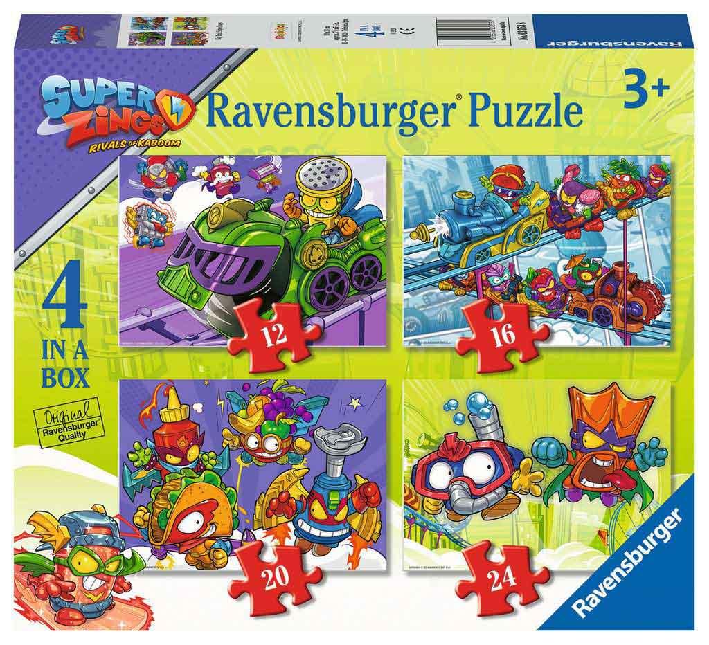 Puzzle Ravensburger Superzings Sky Trail Progresivo de 12+16+20+