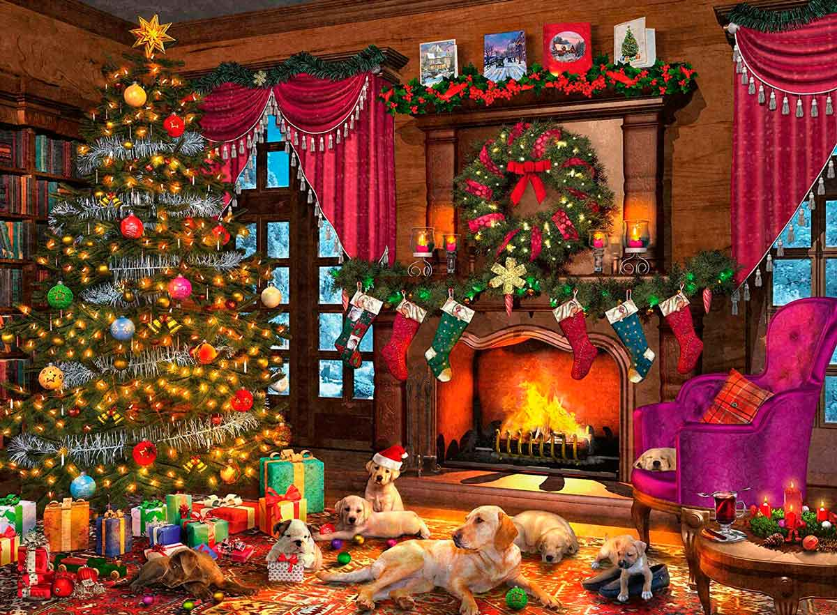 Puzzle Ravensburger Tierna Navidad de 500 Piezas