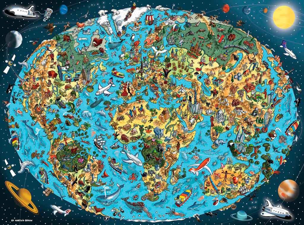 Puzzle Ravensburger La Tierra de 1500 Piezas
