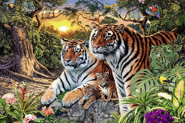 Puzzle Ravensburger Tigre Oculto de 3000 Piezas