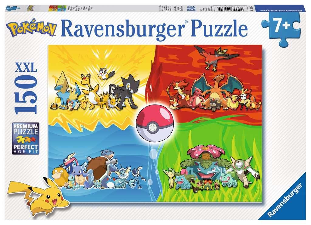 Puzzle Ravensburger Tipos de Pokemon XXL de 150 Piezas