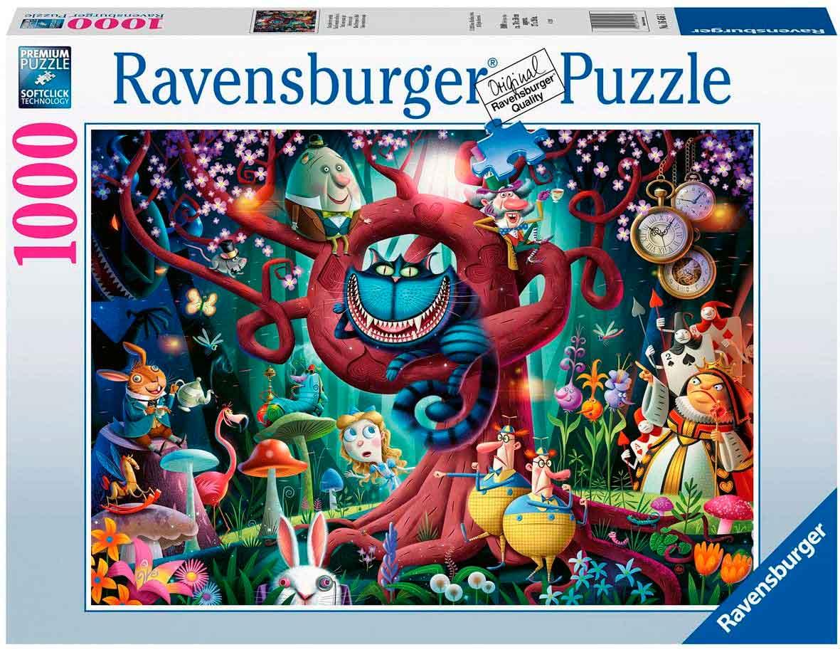 Puzzle Ravensburger Todos Están Locos Aquí de 1000 Piezas