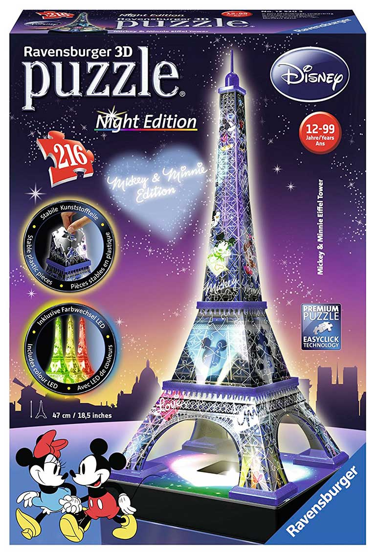 Puzzle Ravensburger Torre Eiffel Disney Night Edition 3D 3D 216