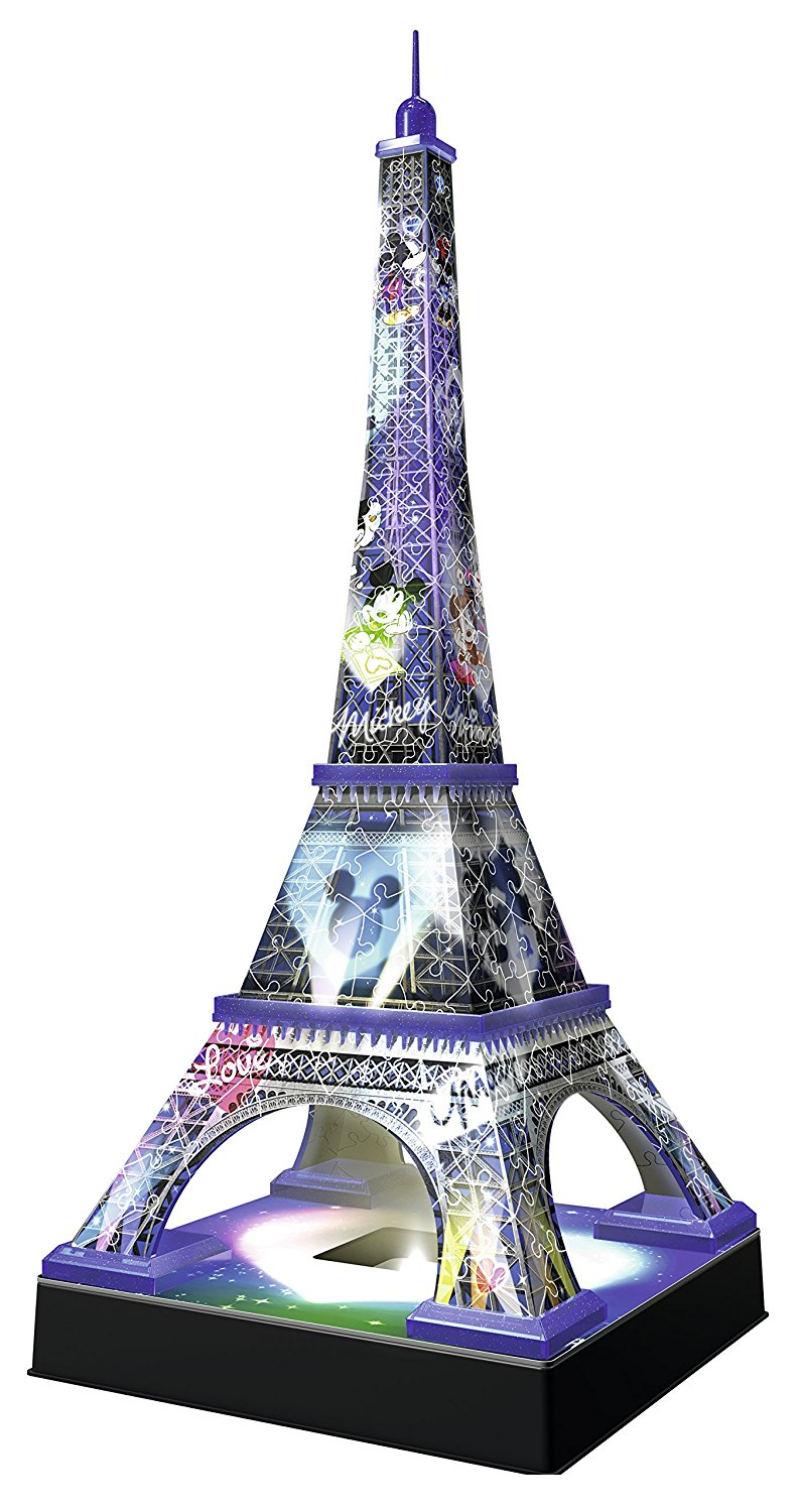 comprar puzzle ravensburger torre eiffel disney night edition 3d 3d 216 piezas ravensburger 125203. Black Bedroom Furniture Sets. Home Design Ideas