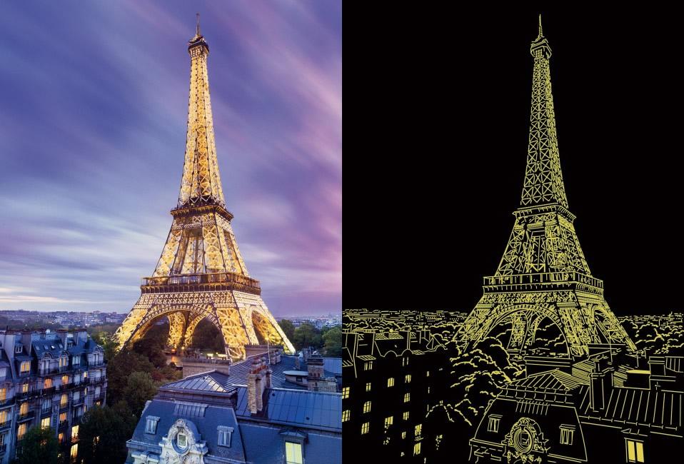Puzzle Ravensburger Torre Eiffel, Fosforescente de 500 Piezas