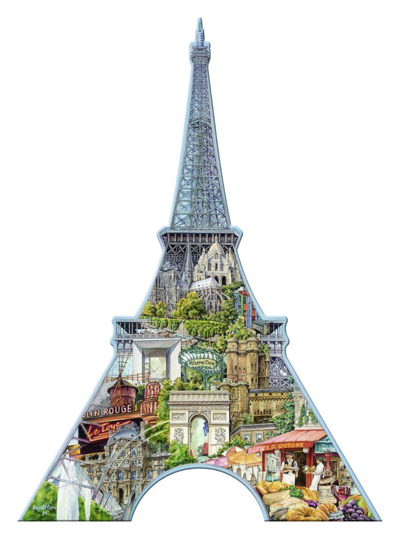 Puzzle Ravensburger Torre Eiffel, Puzzle Silueta de 960 Piezas
