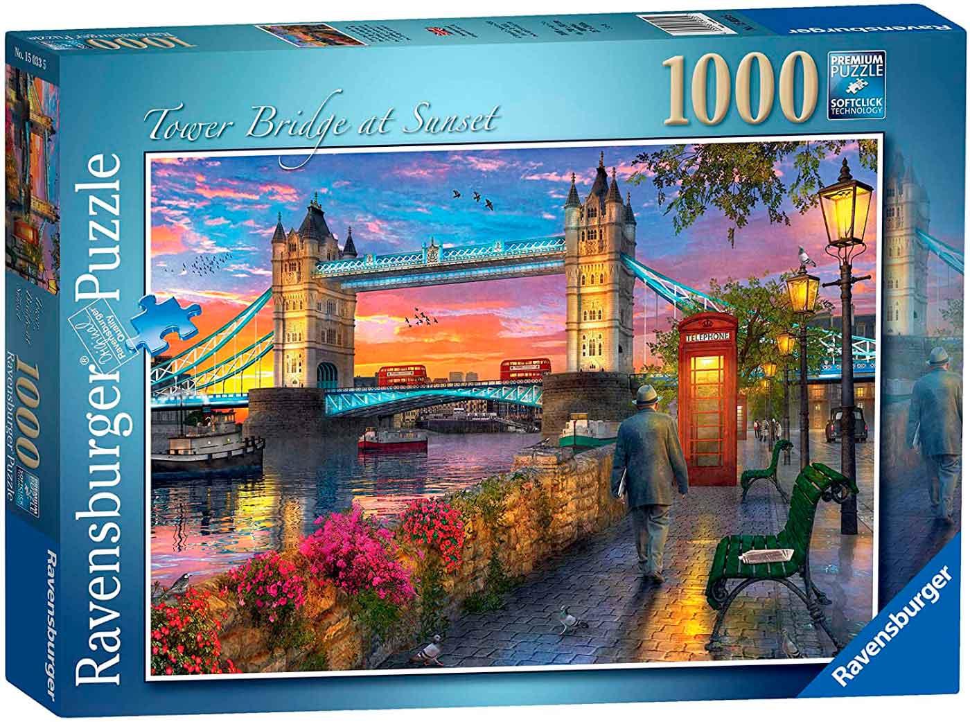 Puzzle Ravensburger Tower Bridge al Atardecer de 1000 Piezas