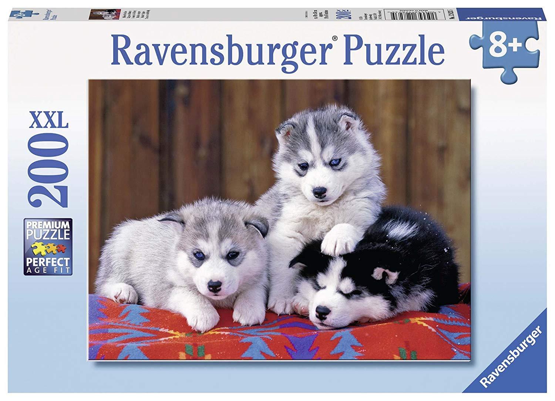 Puzzle Ravensburger Tres Cachorros de Husky XXL de 200 Pzs