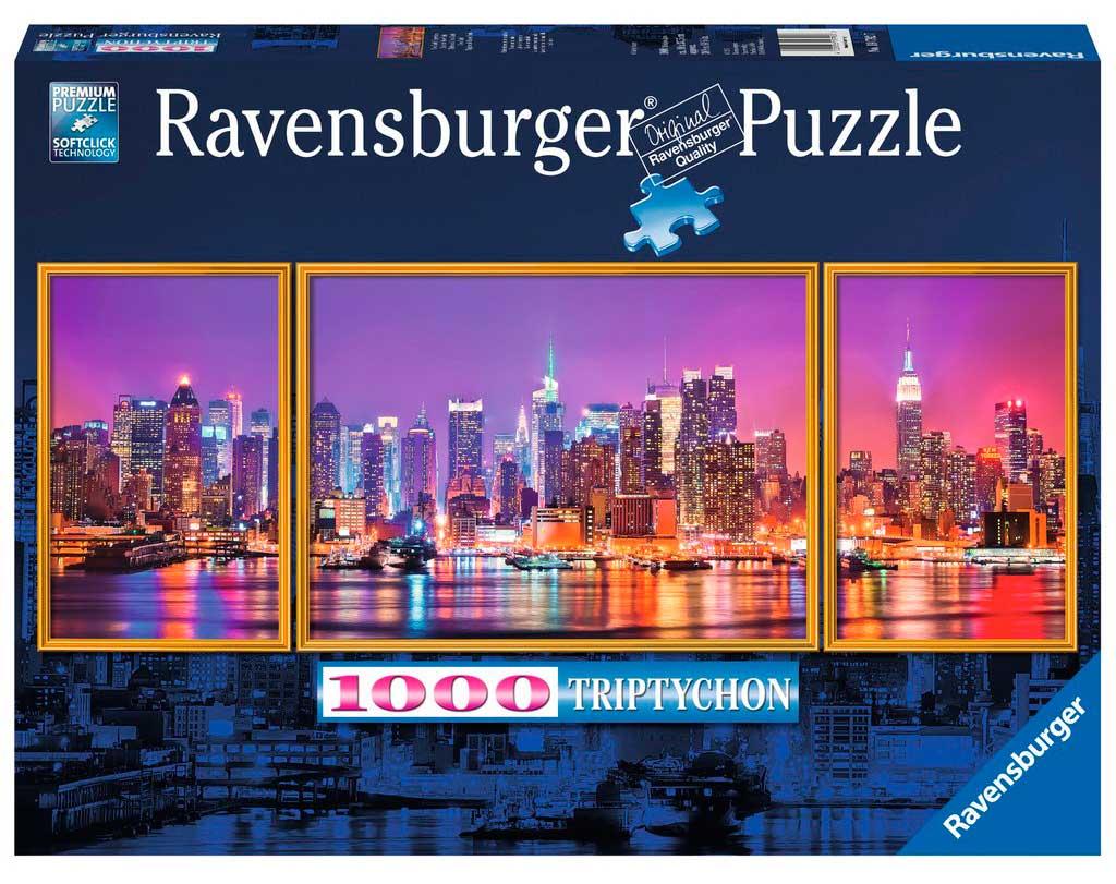 Puzzle Ravensburger Tríptico Nueva York de 1000 Piezas
