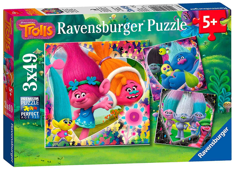 Puzzle Ravensburger Trolls de 3x49 Piezas