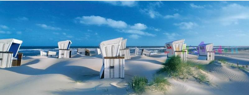 Puzzle Ravensburger Tumbonas en la Isla de Sylt de 1000 Piezas