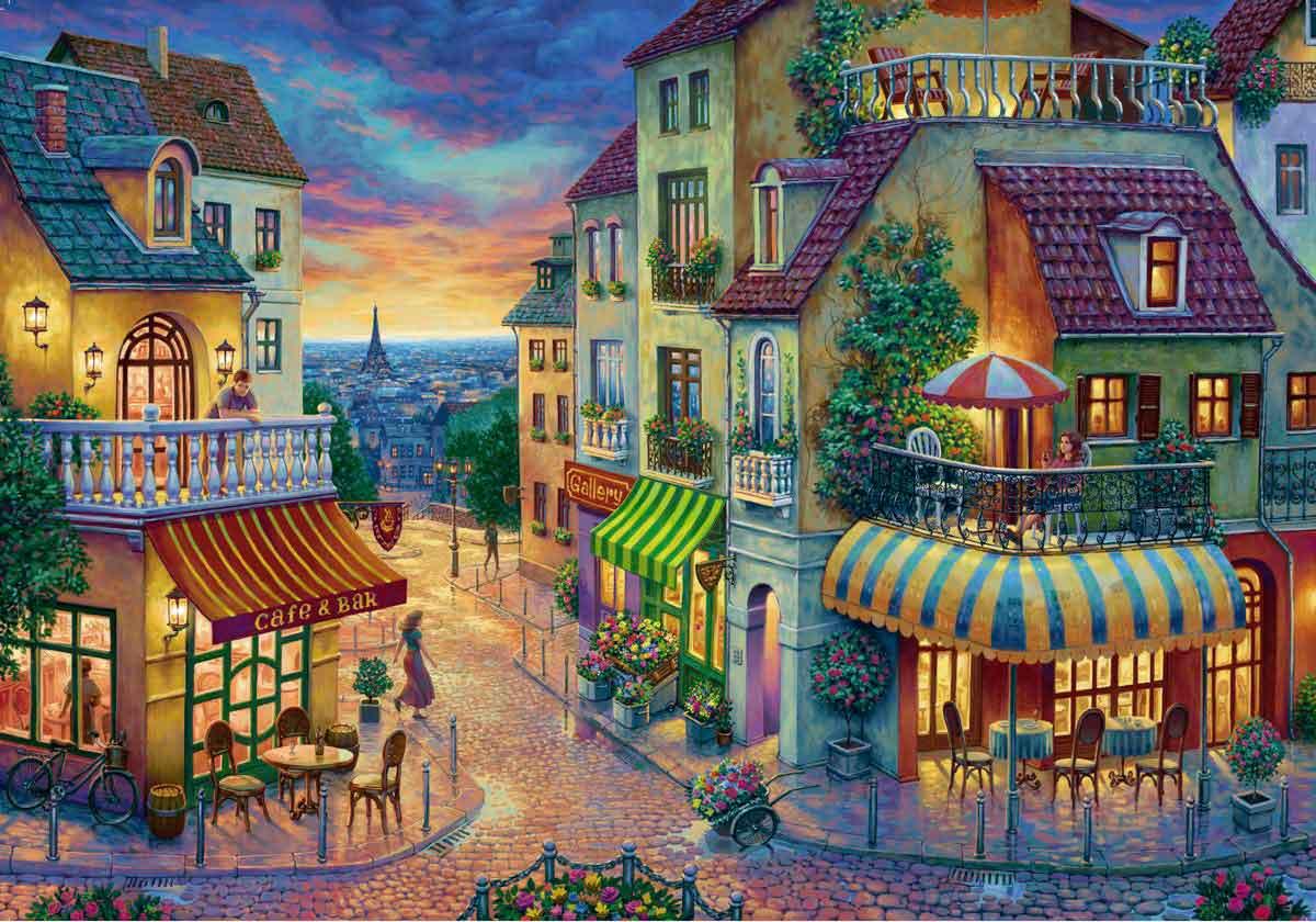 Puzzle Ravensburger Una Noche en París de 1000 Piezas