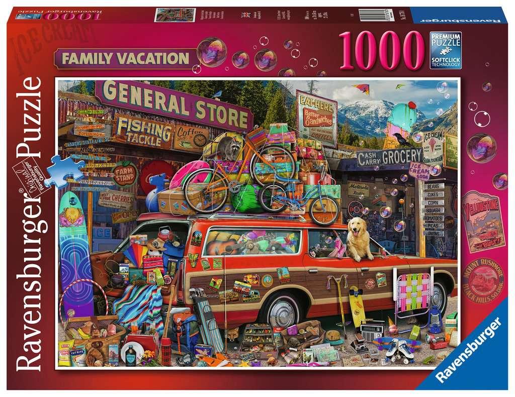 Puzzle Ravensburger Vacaciones Familiares de 1000 Piezas