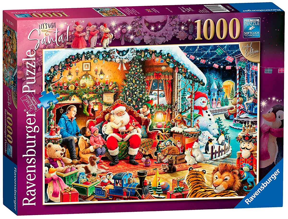 Puzzle Ravensburger Vamos a Visitar a Santa Claus, 1000 Piezas