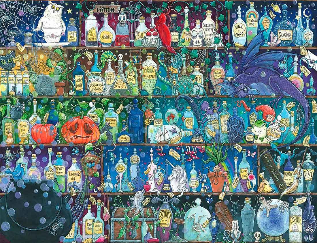 Puzzle Ravensburger Venenos y Pociones de 2000 Piezas