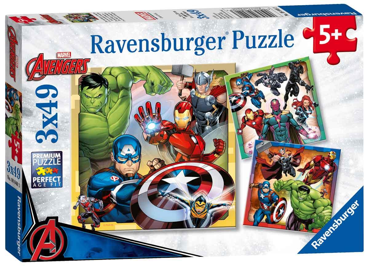 Puzzle Ravensburger Vengadores de 3x49 Piezas