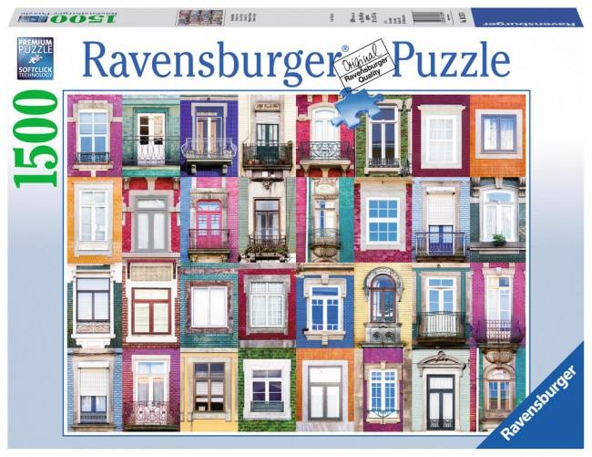 Puzzle Ravensburger Ventanas Portuguesas de 1500 Piezas