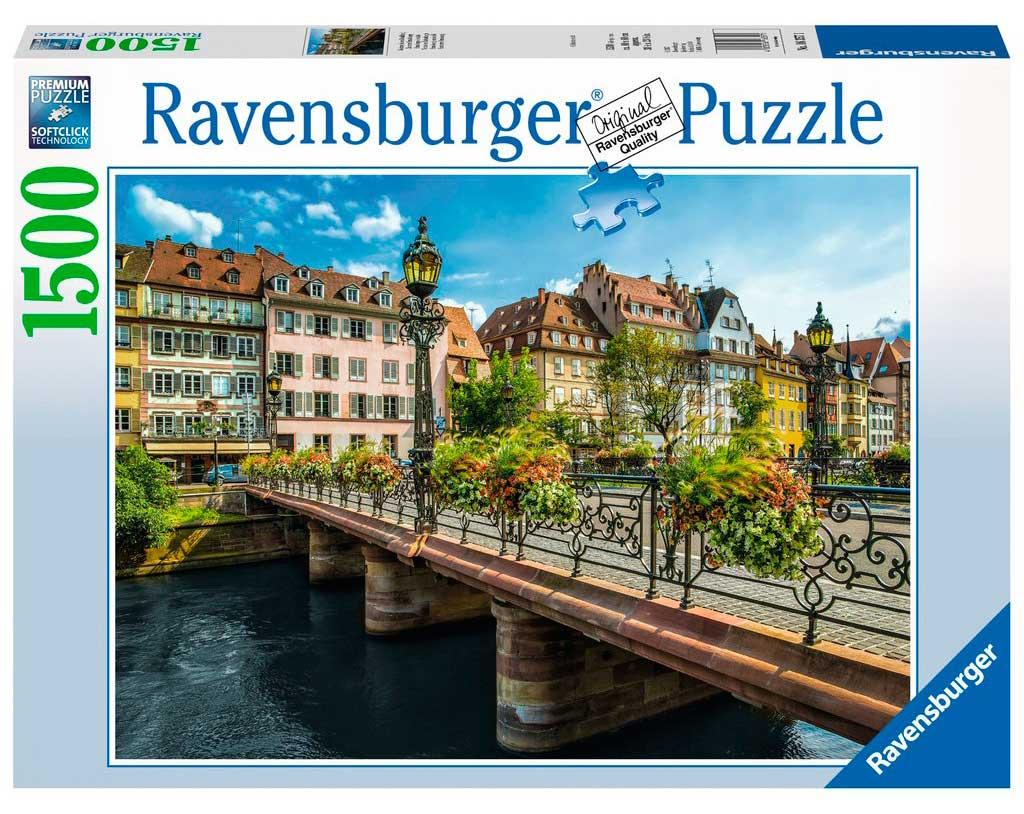 Puzzle Ravensburger Verano en Estrasburgo de 1500 Piezas