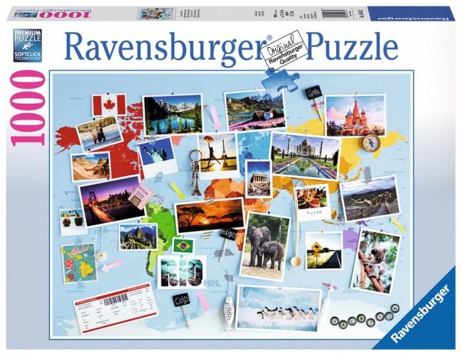 Puzzle Ravensburger Viaje Alrededor del Mundo de 1000 Piezas
