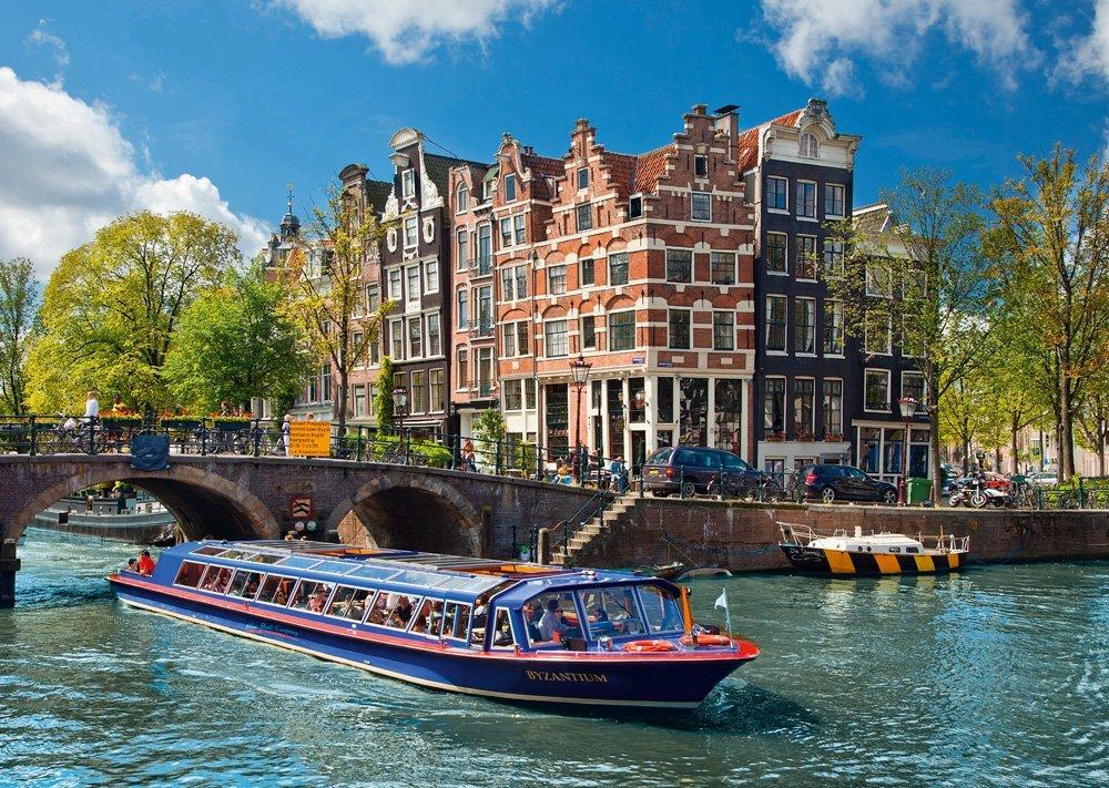Puzzle Ravensburger Viajes a los Canales, Amsterdam de 1000 Piez