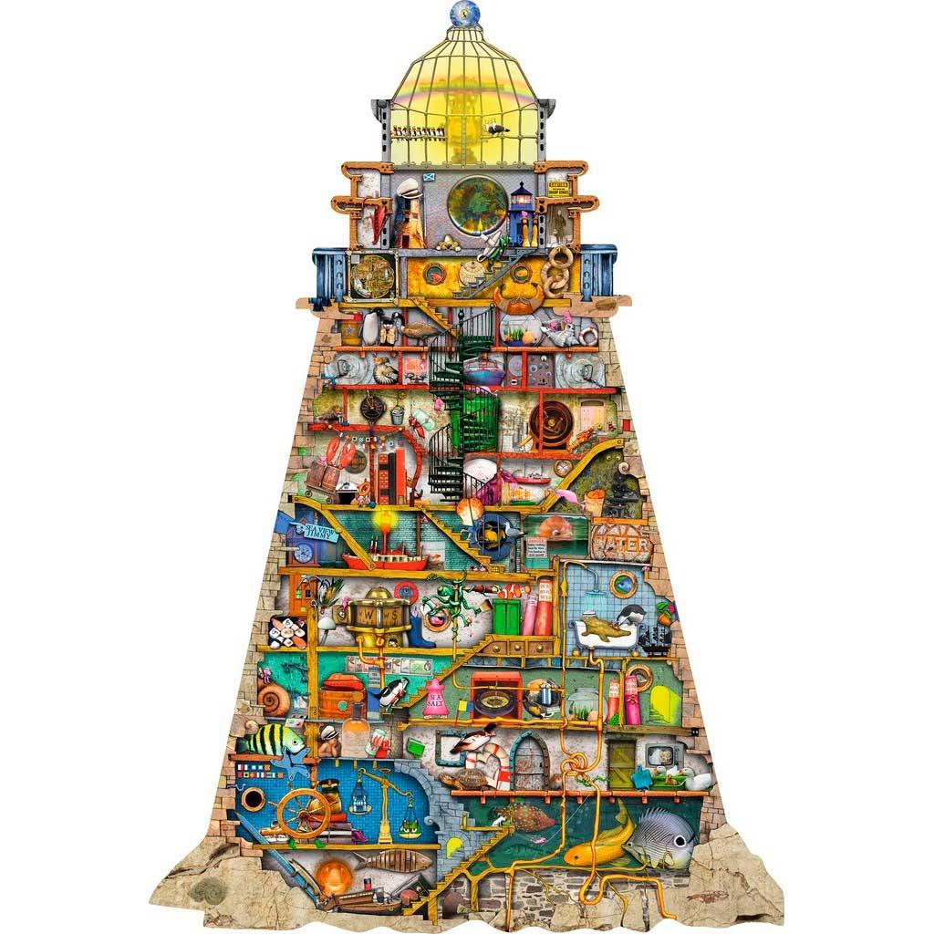 Puzzle Ravensburger Vida en el Faro Silueta de 995 Piezas