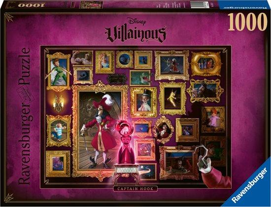 Puzzle Ravensburger Villanos Disney: Capitán Garfio de 1000 Pzs