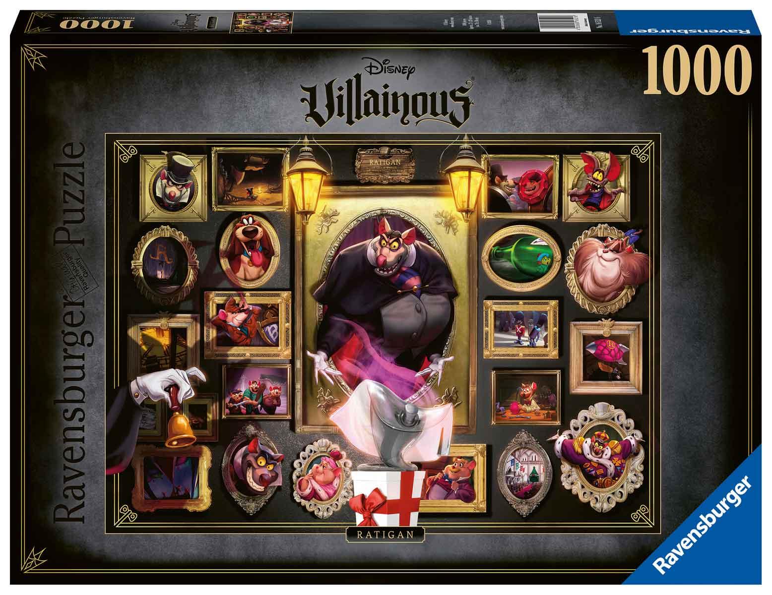 Puzzle Ravensburger Villanos Disney: Ratigan de 1000 Piezas