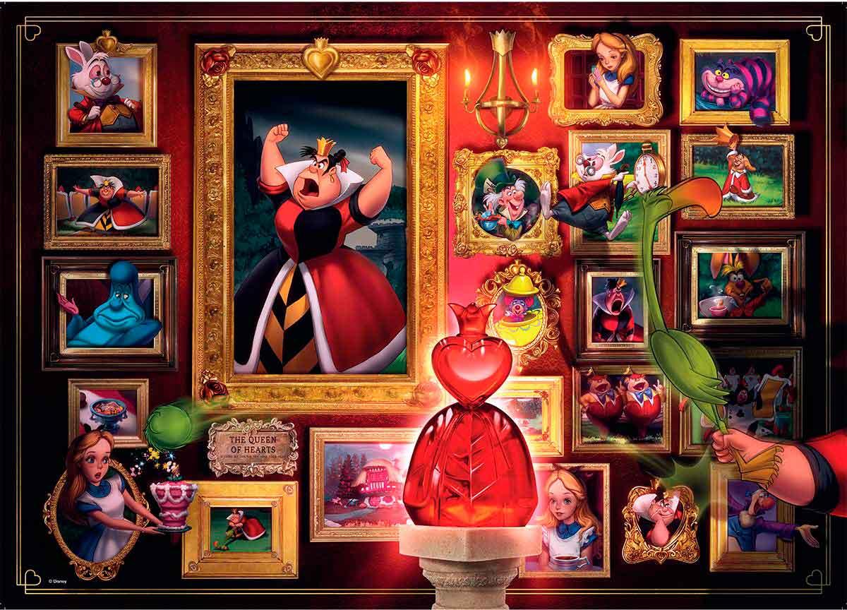 Puzzle Ravensburger Villanos Disney: Reina de Corazones de 1000