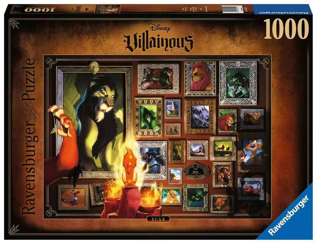 Puzzle Ravensburger Villanos Disney: Scar de 1000 Piezas