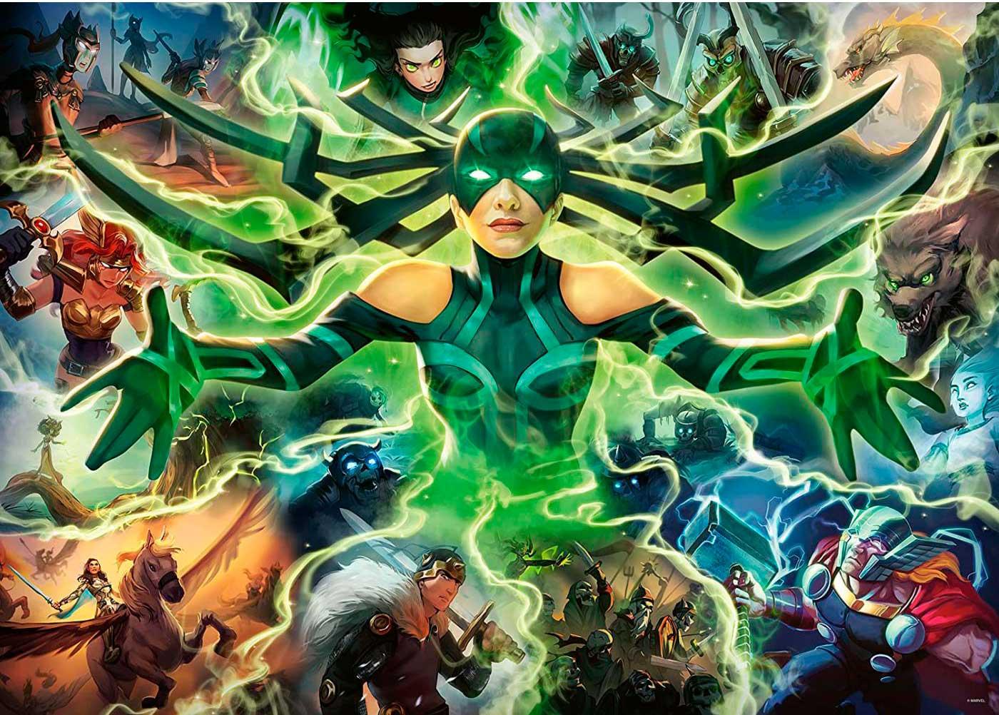 Puzzle Ravensburger Villanos Marvel: Hela de 1000 Piezas