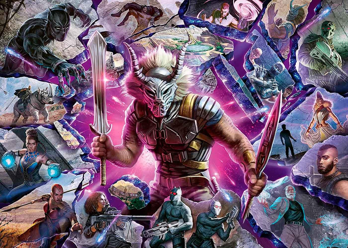 Puzzle Ravensburger Villanos Marvel: Killmonger de 1000 Piezas