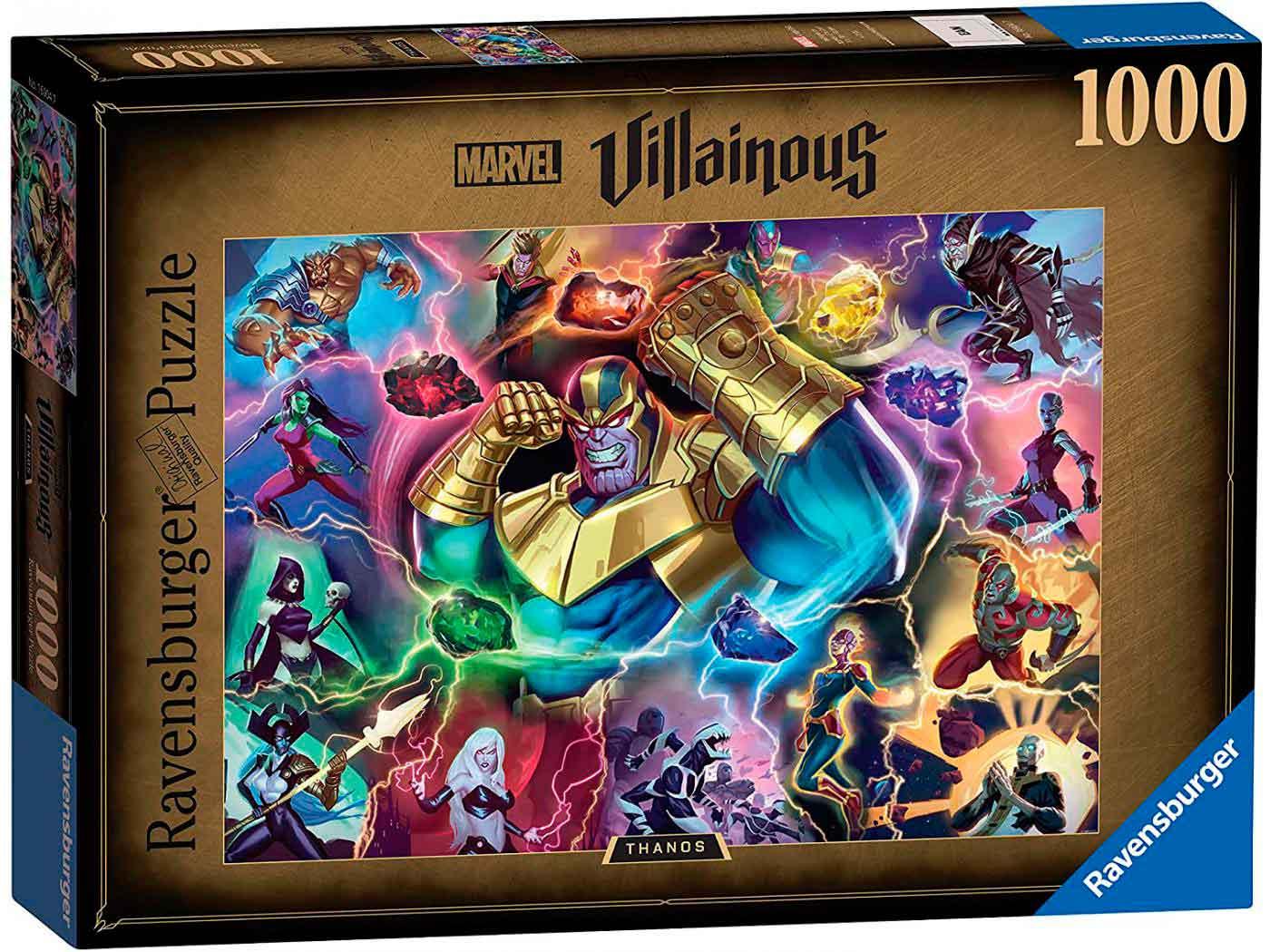 Puzzle Ravensburger Villanos Marvel: Thanos de 1000 Piezas