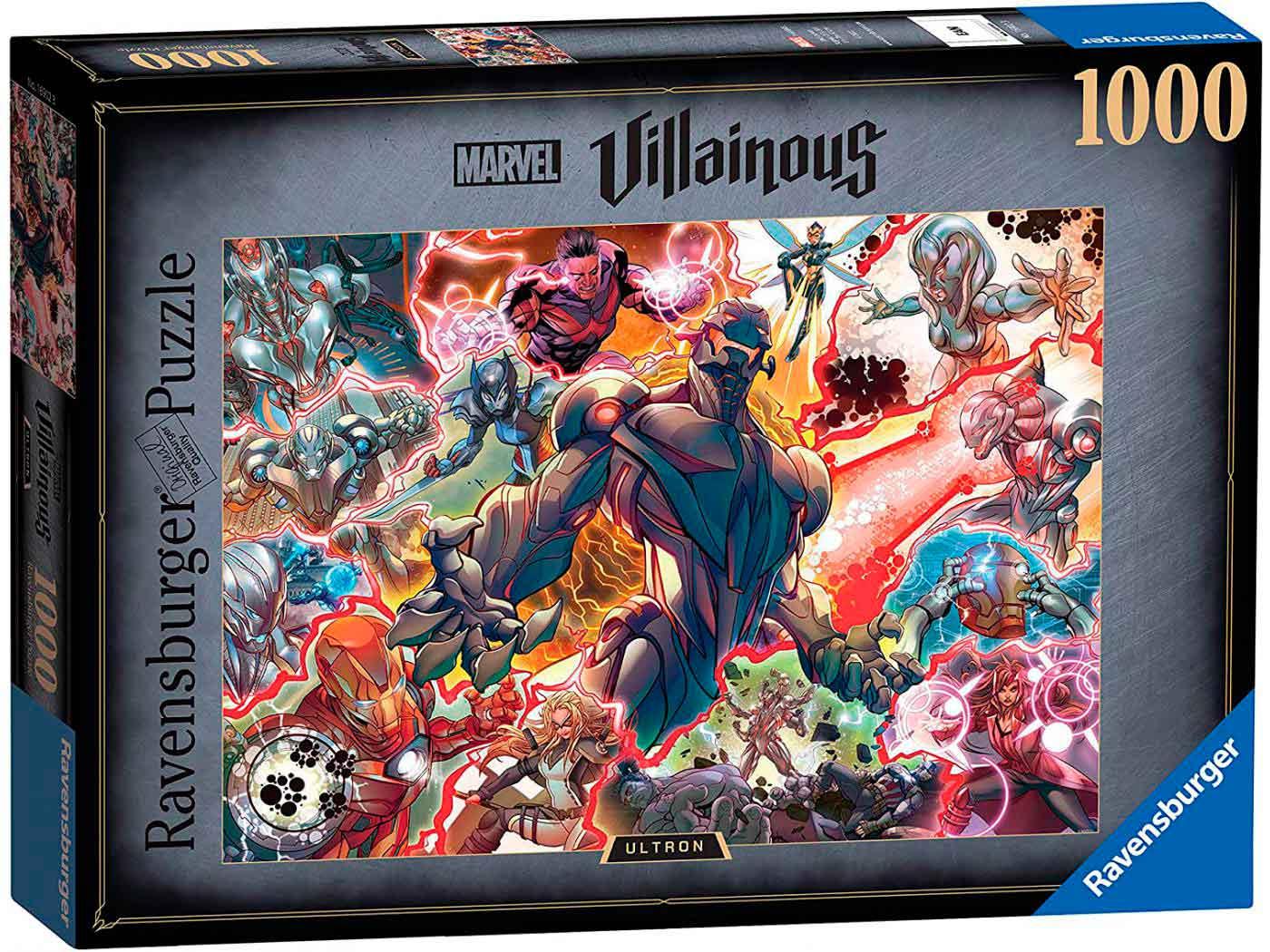 Puzzle Ravensburger Villanos Marvel: Ultron de 1000 Piezas
