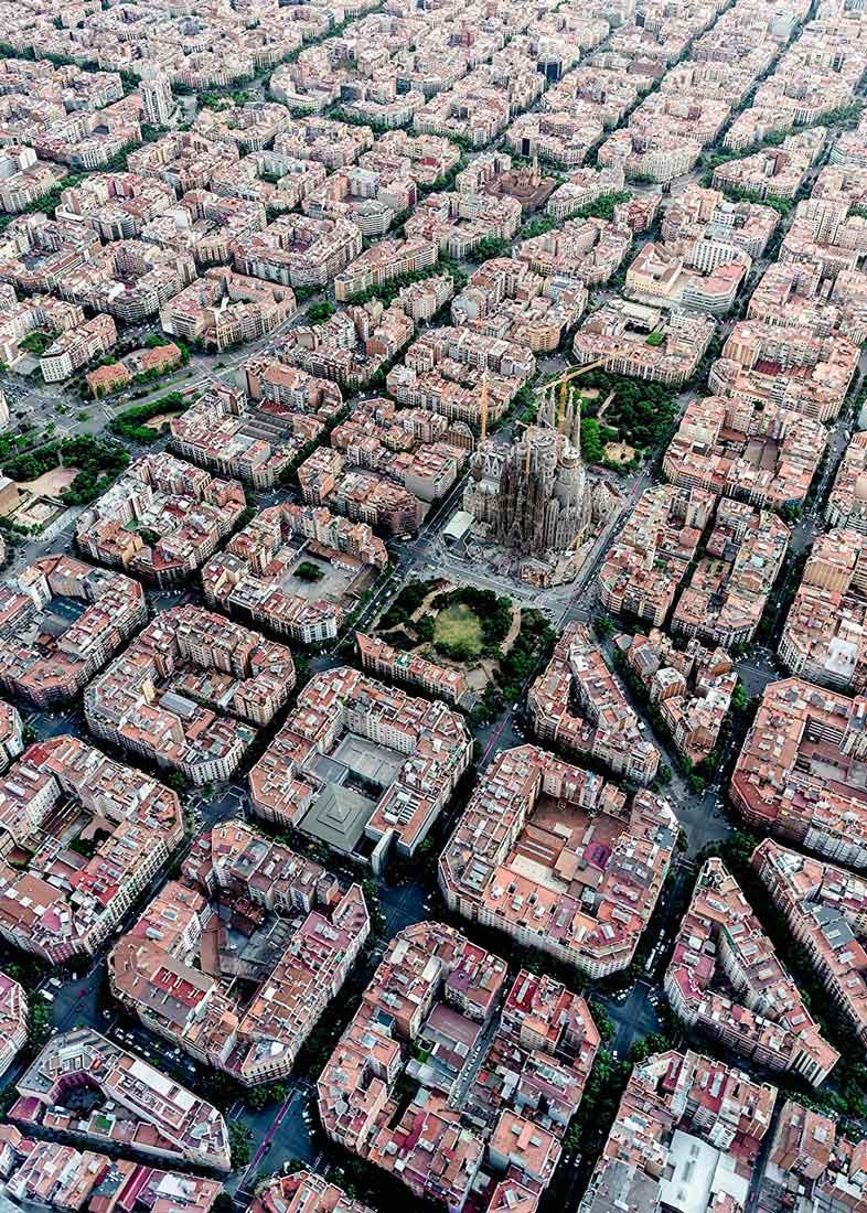 Puzzle Ravensburger Vista Aérea de Barcelona de 1000 Pzs