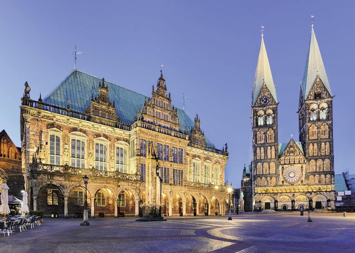 Puzzle Ravensburger Vista de Bremen 1000 Piezas