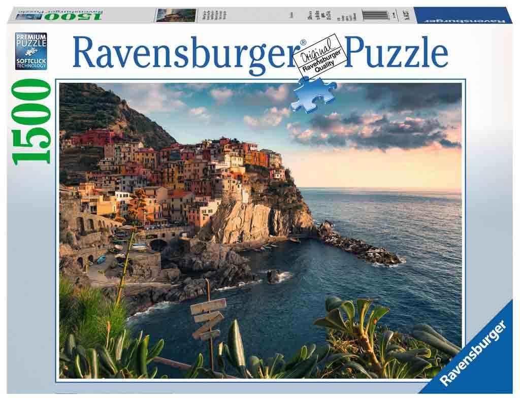 Puzzle Ravensburger Vista de Cinque Terre de 1500 Piezas