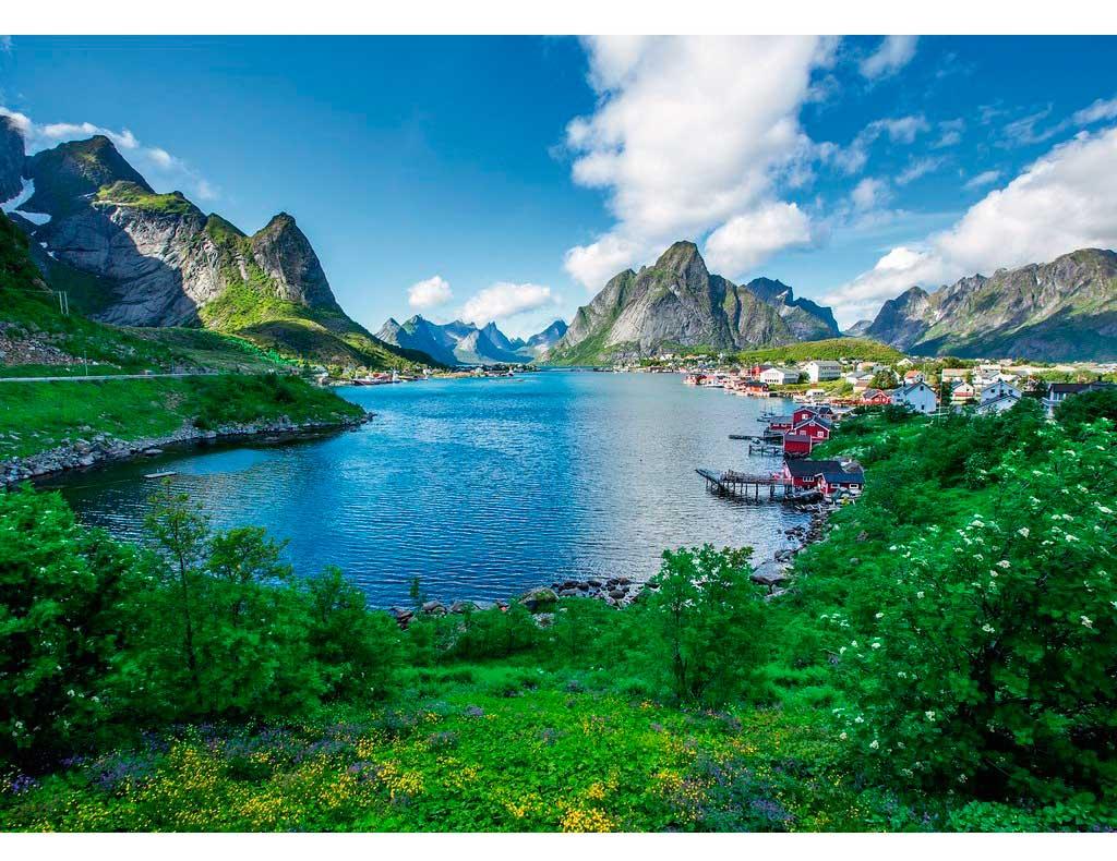Puzzle Ravensburger Vista de Lofoten, Norueba de 1000 Piezas