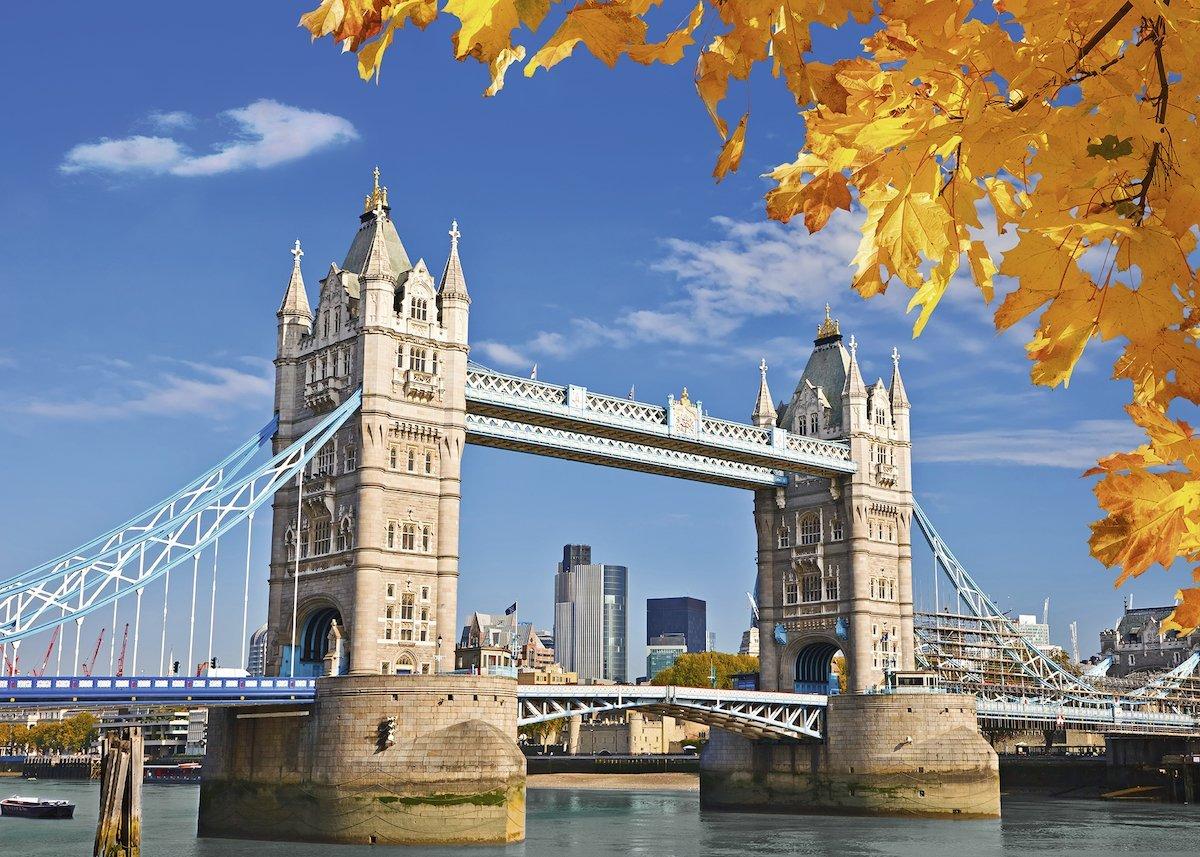 Puzzle Ravensburger Vista del Puente de Londres 1000 Piezas