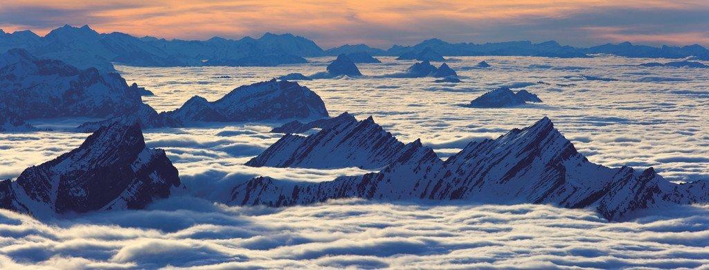 Puzzle Ravensburger Vista desde el Santis, Suiza de 1000 Piezas