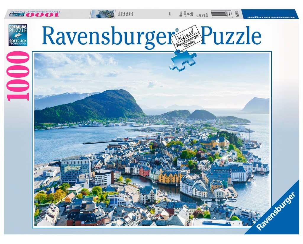 Puzzle Ravensburger Vista sobre Alesund de 1000 Piezas
