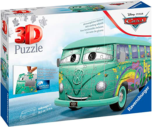 Puzzle Ravensburger Volkswagen T1 Cars 3D 162 Piezas
