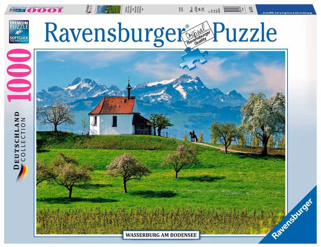 Puzzle Ravensburger Wasserburg del Lago de Constanza de 1000 Pie