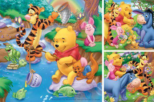 Puzzle Ravensburger Winnie the Pooh Pescando 3 x 49 Piezas