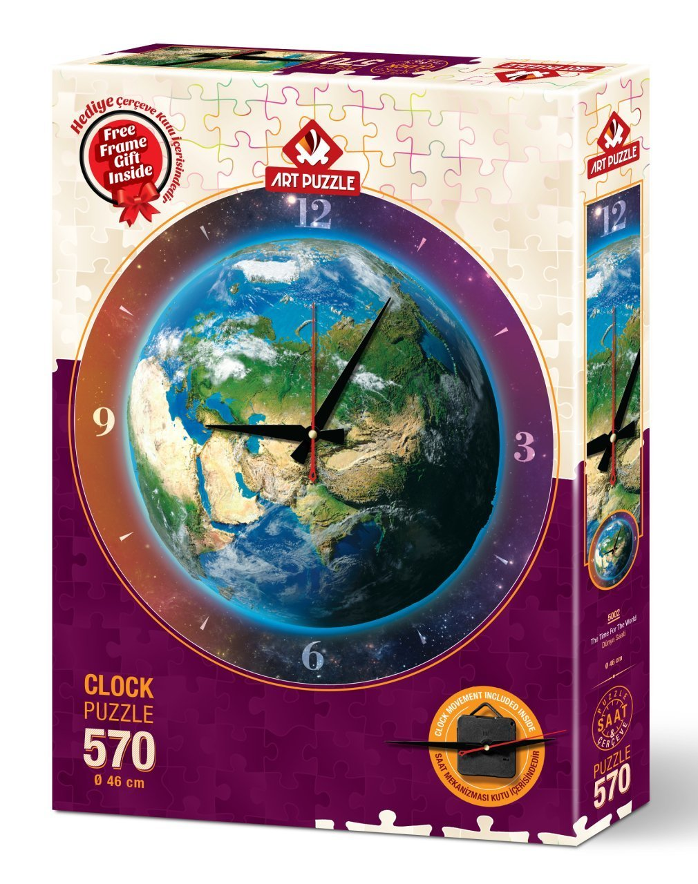 Puzzle Reloj Art Puzzle La Hora en el Mundo 570 Piezas