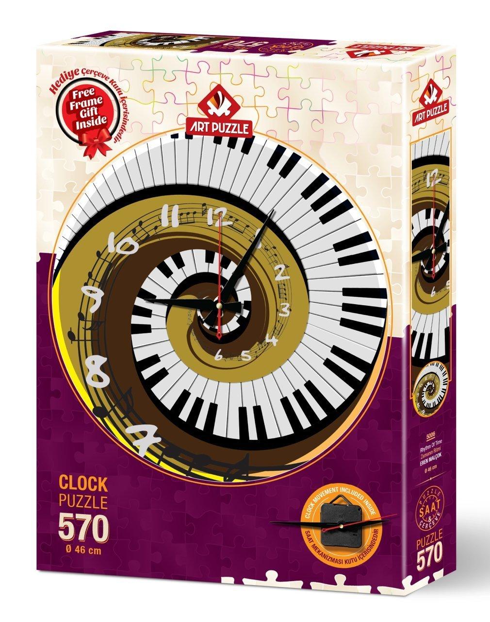 Puzzle Reloj Art Puzzle Ritmo del Tiempo 570 Piezas