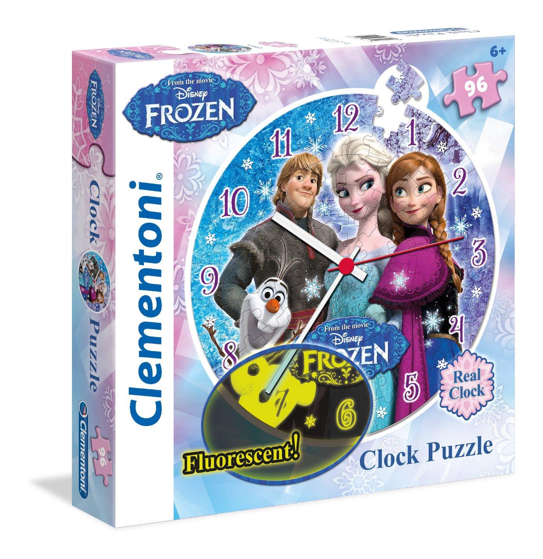 Puzzle Reloj Clementoni Frozen de 96 Piezas