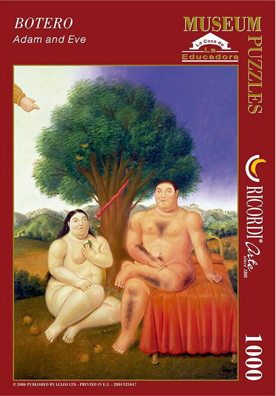 Puzzle Ricordi Adán y Eva de 1000 Piezas
