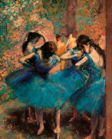 Puzzle Ricordi Bailarinas Azules de 1500 Piezas