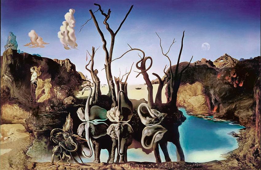 Puzzle Ricordi Cisnes Que Se Reflejan Como Elefantes de 2000 Pzs